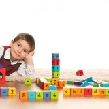 Little boy with blocks